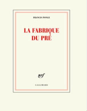 PARUTION Francis Ponge